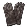 Brown Leather Dress Gloves with Silk Lining