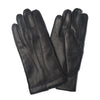 Black Leather Dress Gloves with Silk Lining
