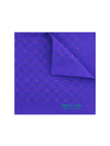 Purple Silk Handkerchief with Blue, Green & Orange Stars