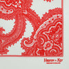 White Silk Handkerchief with Red Large Paisley