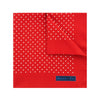 Red Silk Handkerchief with White Medium Spots