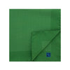 Green Silk Handkerchief with White Pin Spots