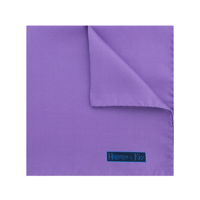 Plain Lilac Silk Handkerchief