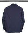 Navy Two Button Single Breasted Cotton & Woollen Jacket