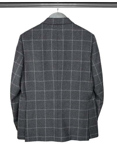 Charcoal Grey Checked Jacket