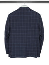 Navy & Blue Checked Single Breasted Woollen Mix Jacket