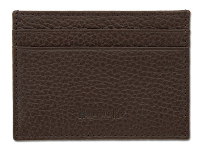 Brown Calf Leather Double Sided Card Holder