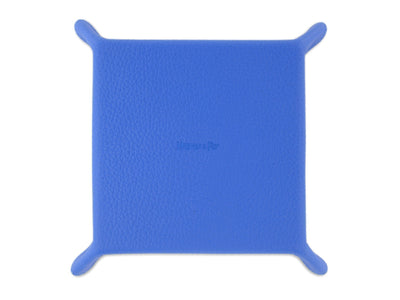 Cobalt Calf Leather with Orange Suede Travel Tray