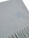 Plain Light Blue 100% Cashmere Scarf