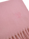 Plain Light Pink 100% Cashmere Scarf