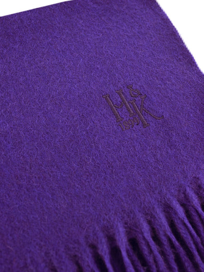 Plain Purple 100% Cashmere Scarf