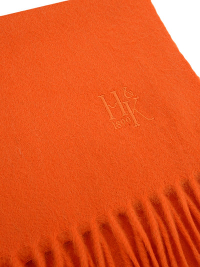 Plain Orange 100% Cashmere Scarf