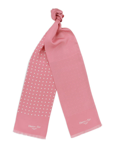 Pink with White Spots Silk Tubular Scarf