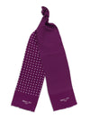 Purple with White Spots Silk Tubular Scarf