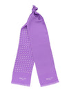 Lilac with White Spots Silk Tubular Scarf