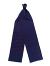 Navy with Red Spots Silk Tubular Scarf