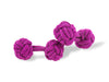 Cerise Pink Knot Links