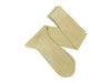 Long Plain Beige Cotton Socks