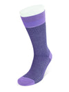 Short Lilac & Navy Houndstooth Cotton Socks