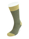Short Beige Melange & Navy Houndstooth Cotton Socks