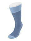 Short Pale Blue Herringbone Cotton Socks