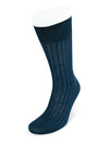 Short Plain Navy Cotton Socks