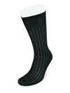 Short Plain Black Cotton Socks