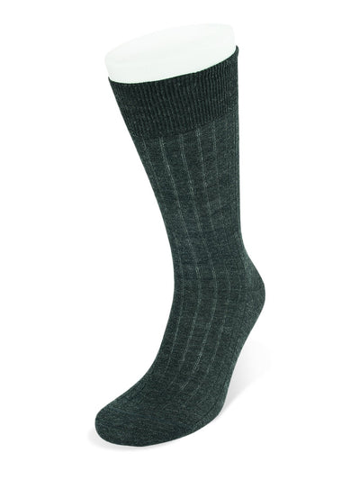 Short Dark Grey Wool Socks