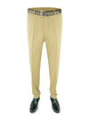Plain Beige Woollen Trousers