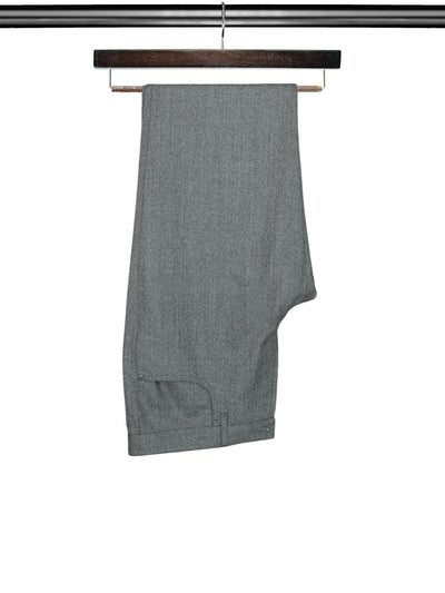 Plain Grey Woollen Trousers