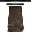Plain Brown Cotton Corduroy Trousers