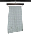 Navy Check Cotton Trousers