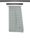 Black Check Cotton Trousers