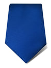 Plain Royal Blue Woven Silk Tie