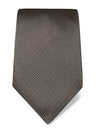Brown Striped Woven Silk Tie