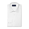 Classic Fit, Classic Collar, 2 Button Cuff Shirt in a Plain White Poplin Cotton