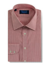 Classic Fit, Classic Collar, 2 Button Cuff Shirt in a Red, Pink & White Grid Check Twill Cotton