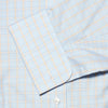 Yellow, Blue & White Regency Check Poplin Cotton Classic Fit, Classic Collar, Double Cuff Shirt