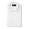 Classic Fit, Classic Collar, Double Cuff Shirt in a Plain White Poplin Cotton