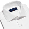 Classic Fit, Cut-away Collar, 2 Button Cuff Shirt in a Plain White Poplin Cotton