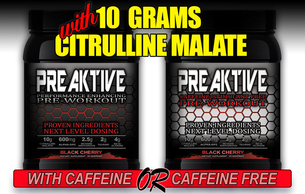 High Citrulline Malate Pre-Workout