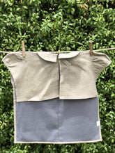 Linen Shirt Bib - with Frill