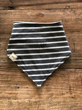 Neckerchief - White & Grey Stripe
