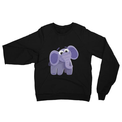 Funny Elephant California Fleece Raglan Sweatshirt