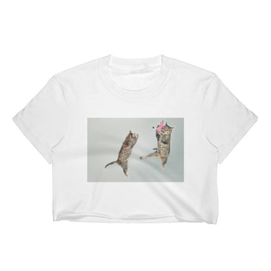 Jumping Cats Crop Top