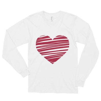 Scribbled Heart Long sleeve t-shirt - Chipmunks Hub