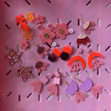 Emeldo- BAMBI EARRINGS / Mauve and Pink