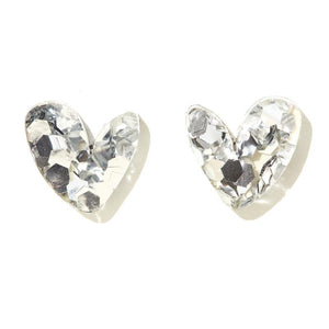 Emeldo Heart Studs // Choose Colour