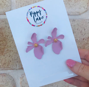 Floral Earring- Blush