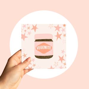 Greeting Card- Pink Vegemite